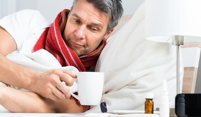 Bei Grippe ist Bettruhe angesagt.