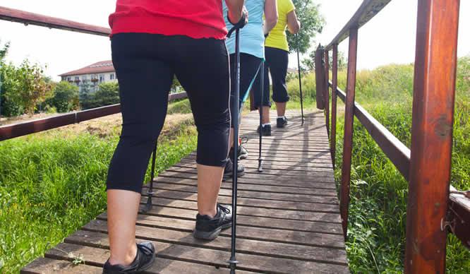 Eine Gruppe Frauen beim Walking