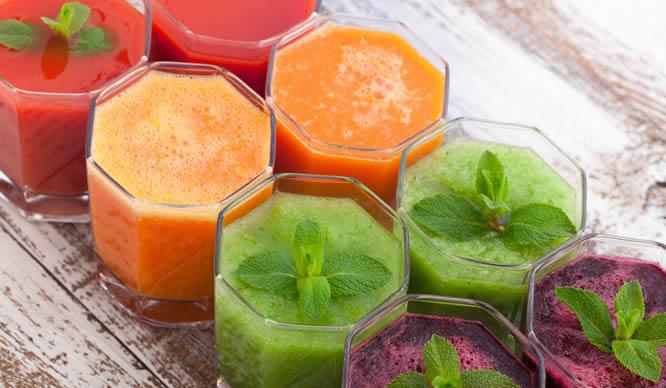 Gemüsesäfte sind ideal zum Abnehmen.